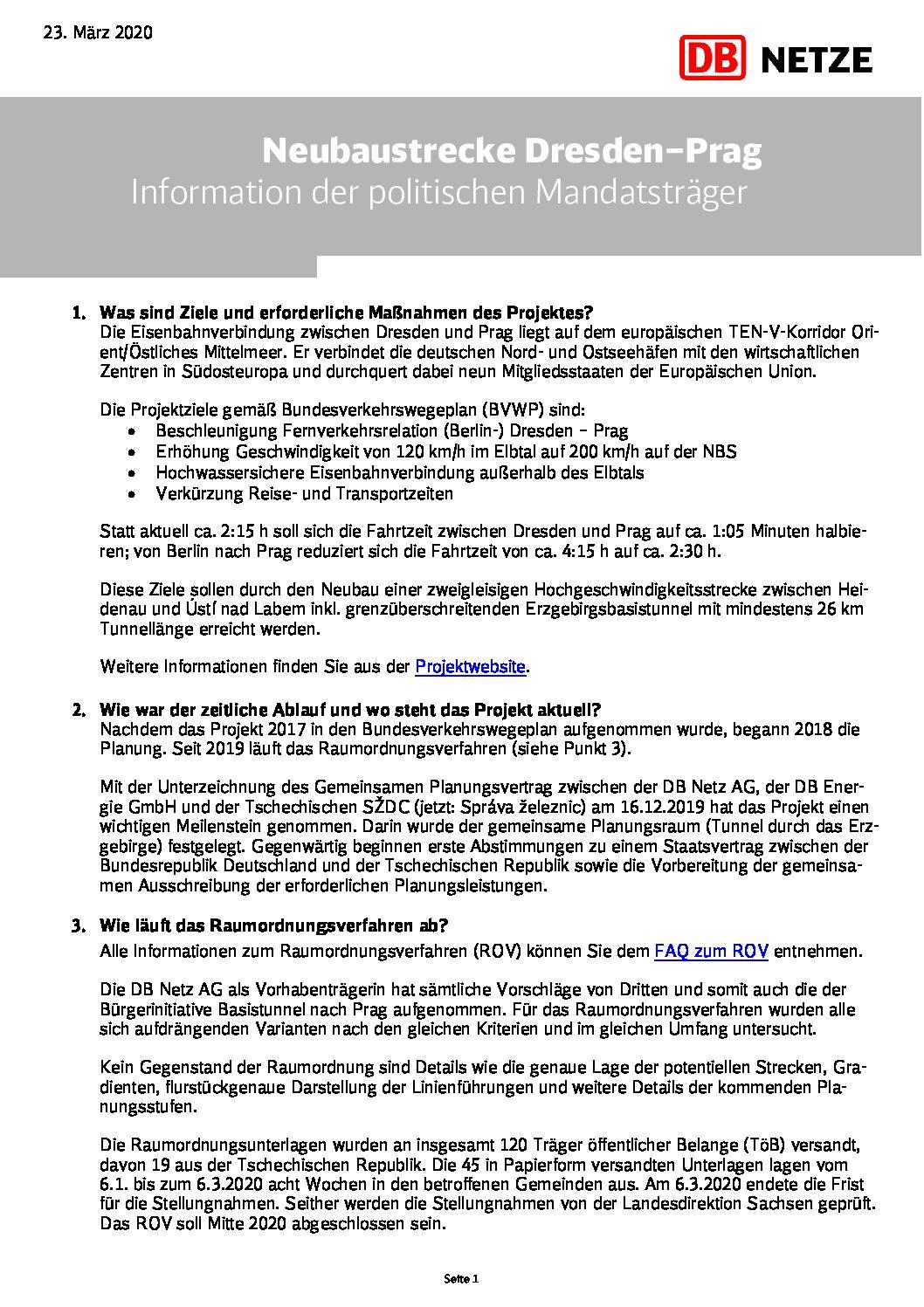 Das Informationspapier für die politischen Mandatsträger mit Stand 23. März 2020