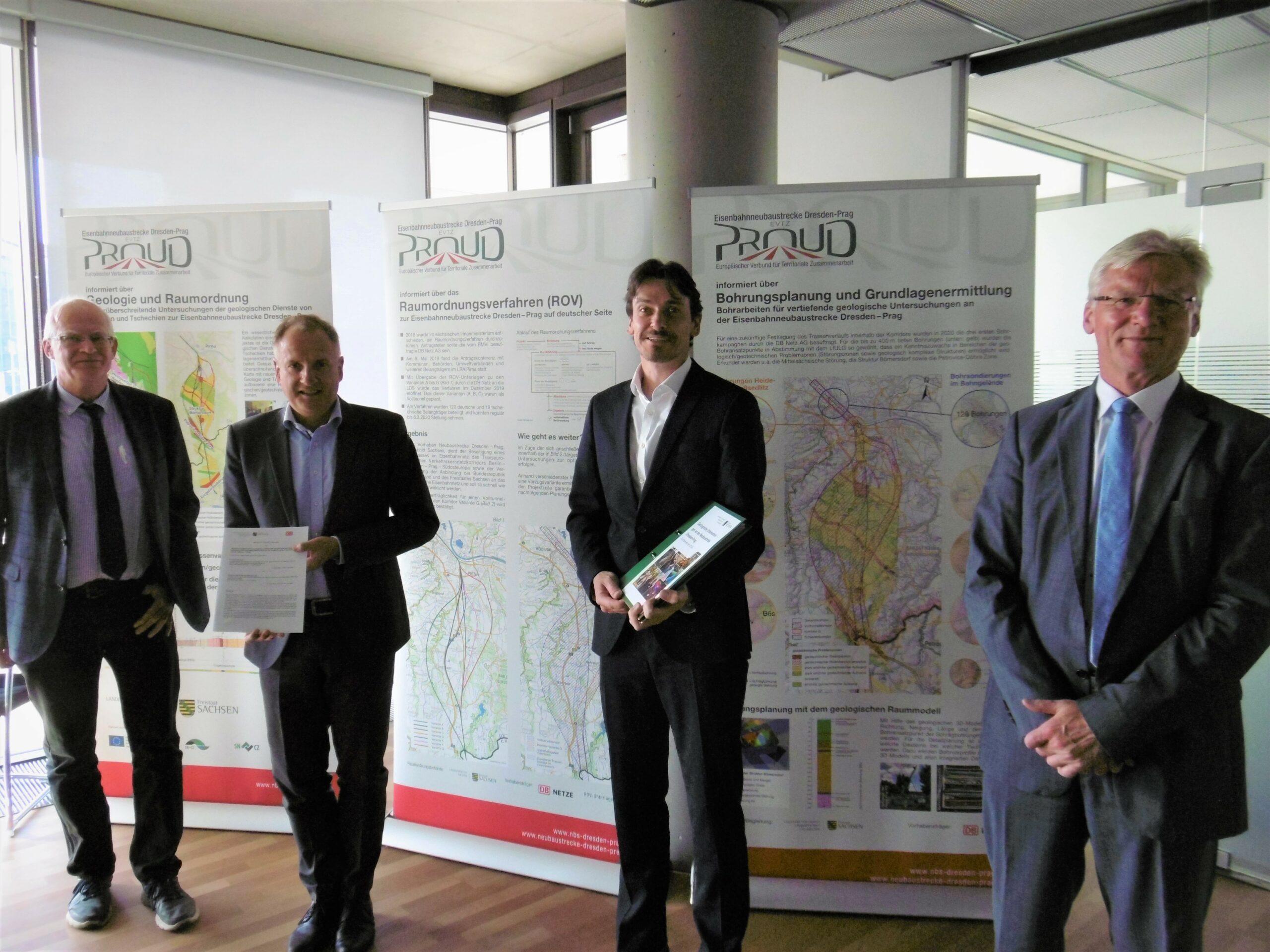 Unterzeichnung der Gemeinsamen Erklärung Neubaustrecke Dresden–Prag (DB AG/Julian Beck)